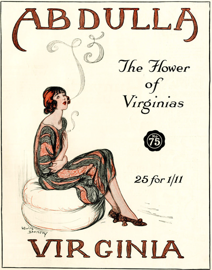 Abdulla Cigarettes Flower of Virginias 11-1922 | Sex Appeal Vintage Ads and Covers 1891-1970