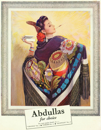 Abdulla Cigarettes For Choice 1945 | Sex Appeal Vintage Ads and Covers 1891-1970