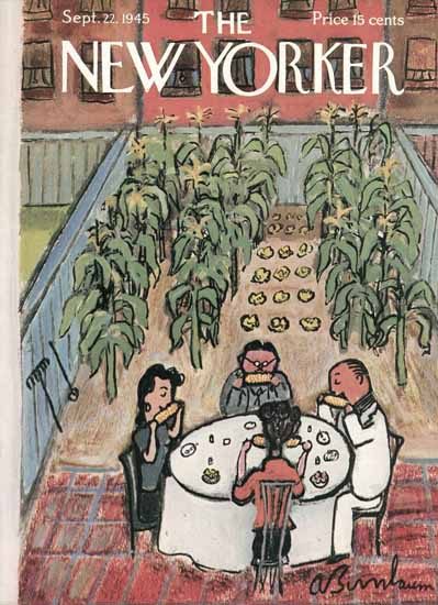 Abe Birnbaum The New Yorker 1945_09_22 Copyright | The New Yorker Graphic Art Covers 1925-1945