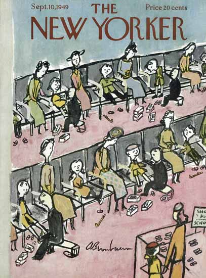 Abe Birnbaum The New Yorker 1949_09_10 Copyright | The New Yorker Graphic Art Covers 1946-1970