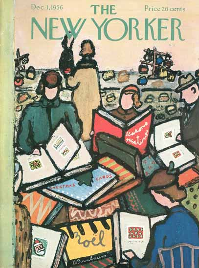 Abe Birnbaum The New Yorker 1956_12_01 Copyright | The New Yorker Graphic Art Covers 1946-1970
