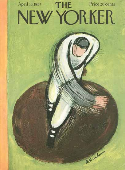 Abe Birnbaum The New Yorker 1957_04_13 Copyright | The New Yorker Graphic Art Covers 1946-1970