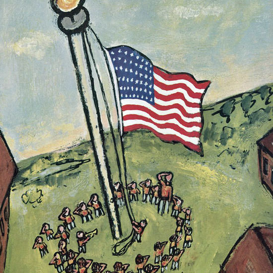 Abe Birnbaum The New Yorker 1958_07_05 Copyright crop | Best of Vintage Cover Art 1900-1970
