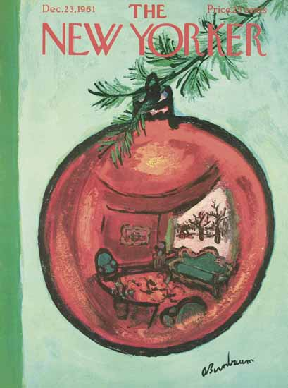 Abe Birnbaum The New Yorker 1961_12_23 Copyright | The New Yorker Graphic Art Covers 1946-1970