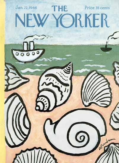 Abe Birnbaum The New Yorker 1966_01_22 Copyright | The New Yorker Graphic Art Covers 1946-1970