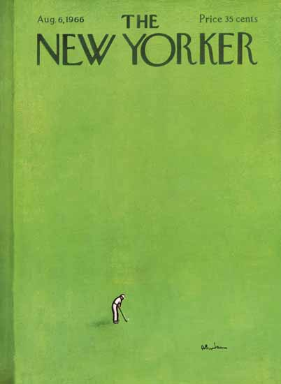 Abe Birnbaum The New Yorker 1966_08_06 Copyright | The New Yorker Graphic Art Covers 1946-1970