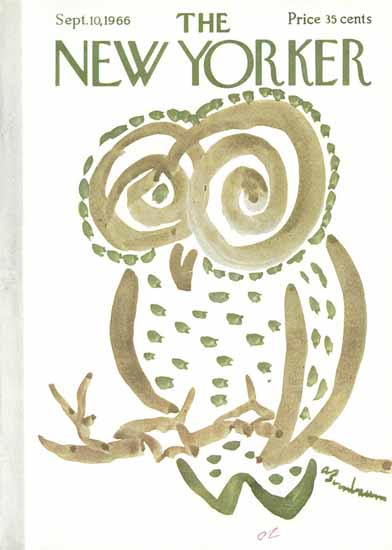Abe Birnbaum The New Yorker 1966_09_10 Copyright | The New Yorker Graphic Art Covers 1946-1970