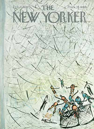 Abe Birnbaum The New Yorker 1967_02_04 Copyright   The New Yorker Graphic Art Covers 1946-1970
