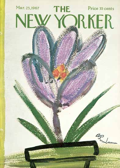 Abe Birnbaum The New Yorker 1967_03_25 Copyright | The New Yorker Graphic Art Covers 1946-1970
