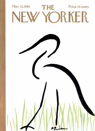 Abe Birnbaum The New Yorker 1968_03_23 Copyright | The New Yorker Graphic Art Covers 1946-1970