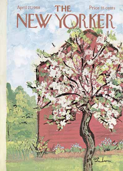 Abe Birnbaum The New Yorker 1968_04_27 Copyright | The New Yorker Graphic Art Covers 1946-1970