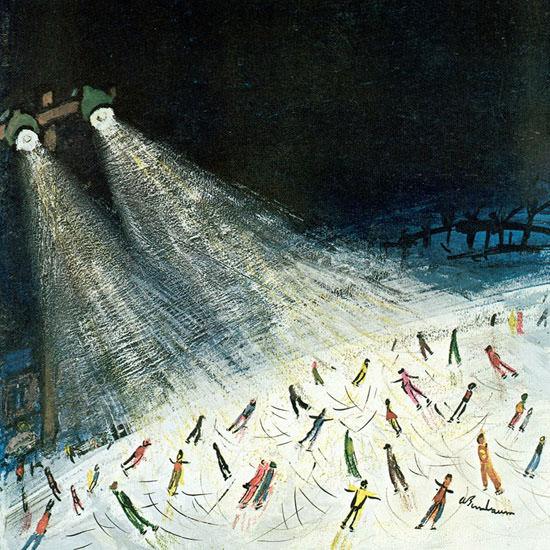 Abe Birnbaum The New Yorker 1970_12_12 Copyright crop | Best of Vintage Cover Art 1900-1970
