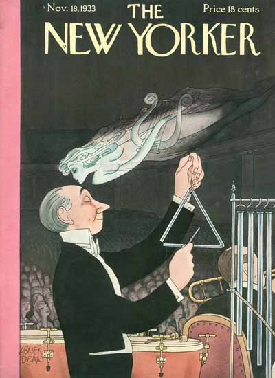 Abner Dean The New Yorker 1933_11_18 Copyright | The New Yorker Graphic Art Covers 1925-1945