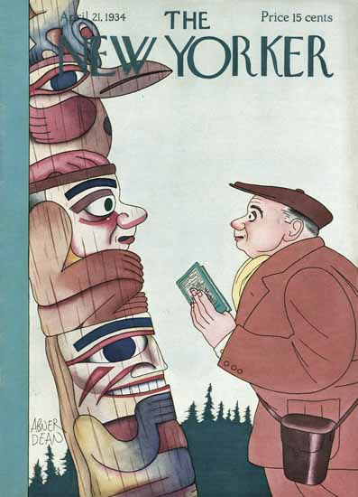 Abner Dean The New Yorker 1934_04_21 Copyright | The New Yorker Graphic Art Covers 1925-1945