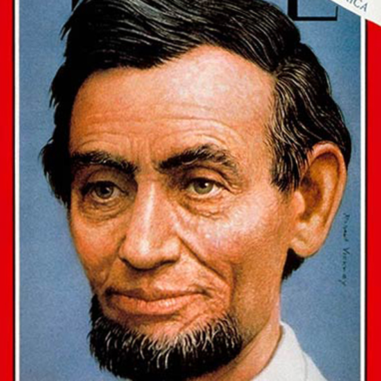 Abraham Lincoln Time Magazine 1963-05 by Robert Vickrey crop | Best of Vintage Cover Art 1900-1970