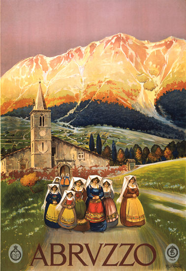 Abruzzo 1920s | Vintage Travel Posters 1891-1970