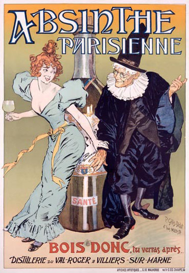 Absinthe Parisienne Gelis Didot Maltese | Sex Appeal Vintage Ads and Covers 1891-1970