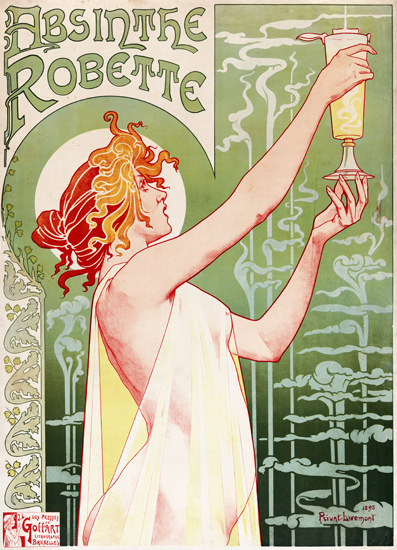 Absinthe Robette Privat Livemont Bruxelles 1895 | Sex Appeal Vintage Ads and Covers 1891-1970