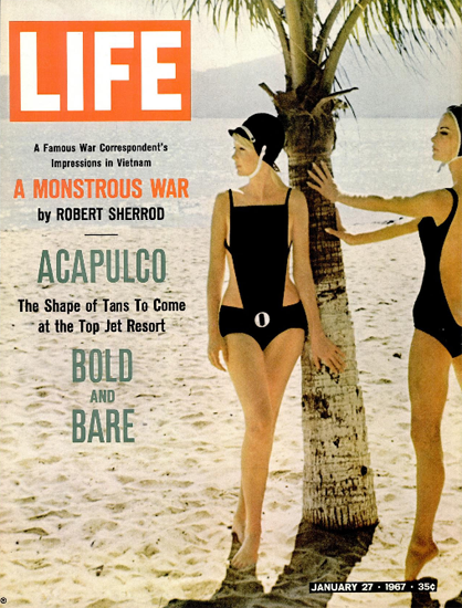 Acapulco Bold and Bare Fashion 27 Jan 1967 Copyright Life Magazine | Life Magazine Color Photo Covers 1937-1970
