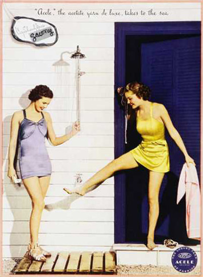 Acele Beach Fashion 1930s | Sex Appeal Vintage Ads and Covers 1891-1970