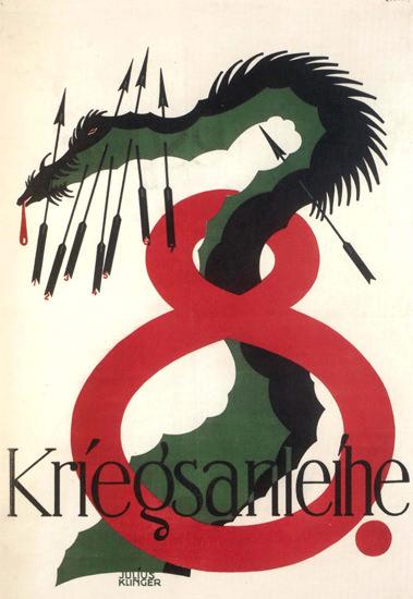 Achte Kriegsanleihe Austria Dragon | Vintage War Propaganda Posters 1891-1970