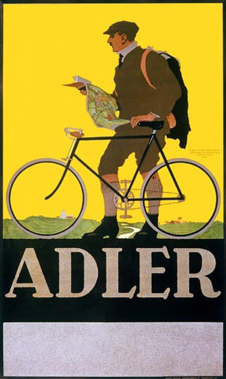 Adler Bicycle | Vintage Travel Posters 1891-1970