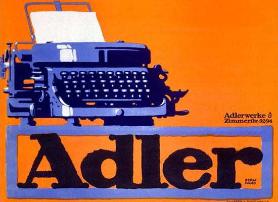 Adler Typewriter | Vintage Ad and Cover Art 1891-1970