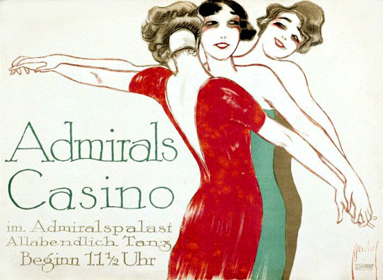 Admirals Casino Admiralspalast 1910s Berlin | Sex Appeal Vintage Ads and Covers 1891-1970