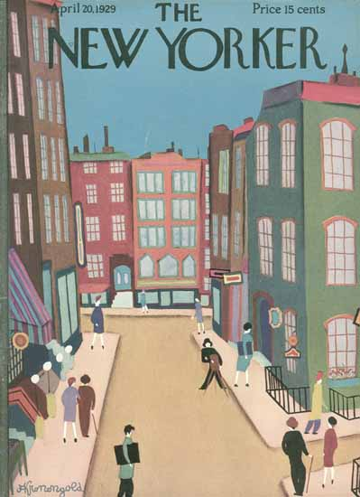 Adolph Kronengold The New Yorker 1929_04_20 Copyright | The New Yorker Graphic Art Covers 1925-1945
