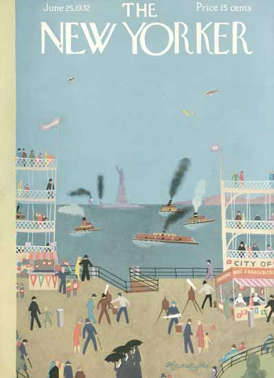 Adolph Kronengold The New Yorker 1932_06_25 Copyright | The New Yorker Graphic Art Covers 1925-1945