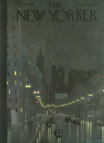 Adolph Kronengold The New Yorker 1932_10_29 Copyright | The New Yorker Graphic Art Covers 1925-1945