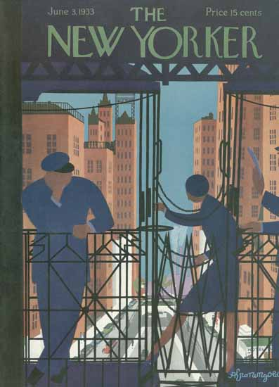 Adolph Kronengold The New Yorker 1933_06_03 Copyright | The New Yorker Graphic Art Covers 1925-1945