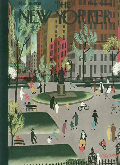 Adolph Kronengold The New Yorker 1935_05_18 Copyright | The New Yorker Graphic Art Covers 1925-1945