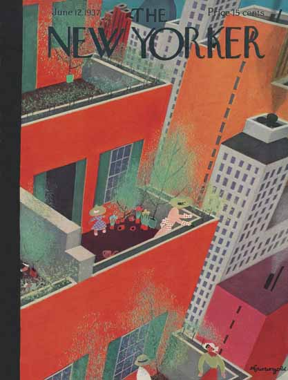 Adolph Kronengold The New Yorker 1937_06_12 Copyright | The New Yorker Graphic Art Covers 1925-1945