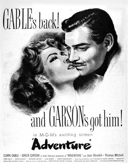Adventure Movie 1946 Clark Gable Garson | Sex Appeal Vintage Ads and Covers 1891-1970
