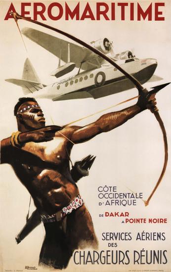 Aeromaritime Services Aeriens Chargeurs Reunis | Vintage Travel Posters 1891-1970