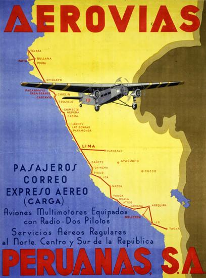Aerovias Peruanas SA 1930s | Vintage Travel Posters 1891-1970