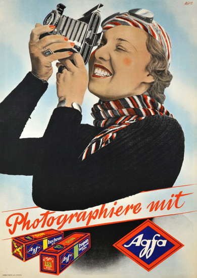 Agfa Photographiere Mit Agfa 1937 | Vintage Ad and Cover Art 1891-1970