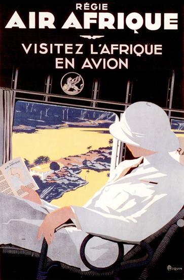 Air Afrique Visitez L Afrique En Aviation 1935 | Vintage Travel Posters 1891-1970