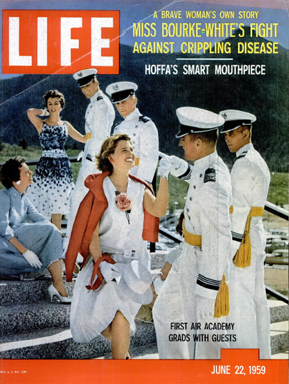 Air Force Academy Firsts Graduation 22 Jun 1959 Copyright Life Magazine | Life Magazine Color Photo Covers 1937-1970