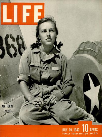 Air Force Pilot 19 Jul 1943 Copyright Life Magazine   Life Magazine BW Photo Covers 1936-1970