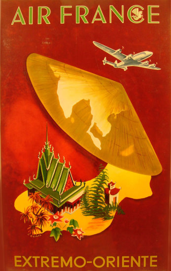 Air France Extremo-Oriente 1950 | Vintage Travel Posters 1891-1970