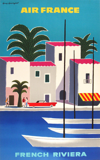 Air France French Riviera 1965 | Vintage Travel Posters 1891-1970