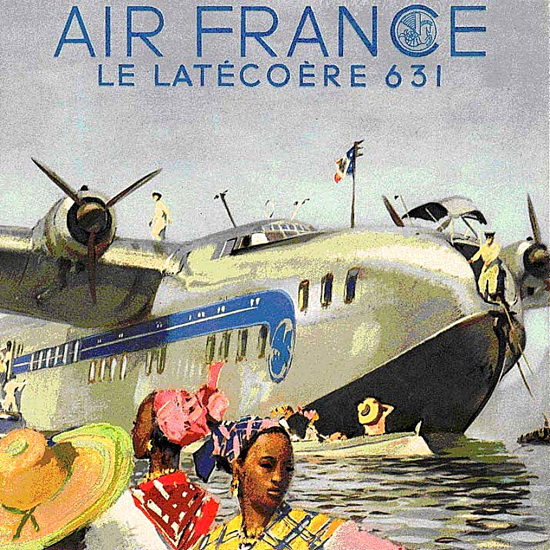 Air France Le Latecoere 631 Year 1936 | Vintage Travel Posters 1891-1970