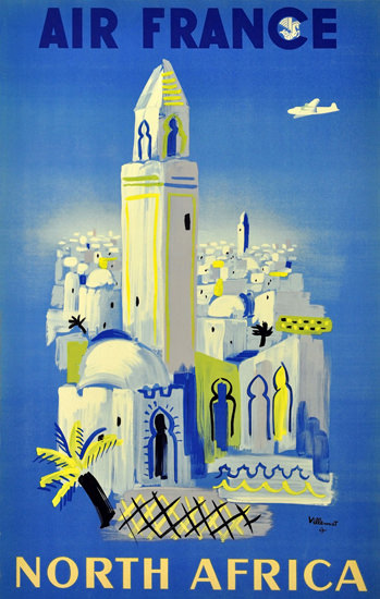 Air France North Africa 1946 | Vintage Travel Posters 1891-1970