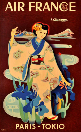 Air France Paris Tokio 1952 | Vintage Travel Posters 1891-1970