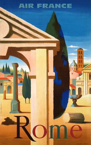 Air France Rome Italy 1957 | Vintage Travel Posters 1891-1970