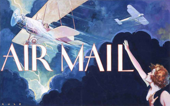 Air Mail 1932 Kulz | Vintage Travel Posters 1891-1970