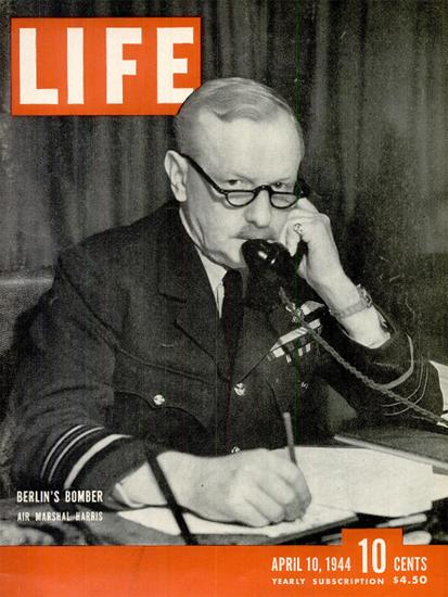 Air Marshal Sir Arthur Harris 10 Apr 1944 Copyright Life Magazine | Life Magazine BW Photo Covers 1936-1970