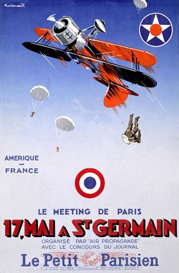 Air Propagande Meeting Paris St Germain | Vintage Ad and Cover Art 1891-1970